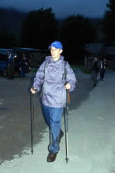 A determined walker completes Day 1 on the Lake District 24 Peaks Challenge
