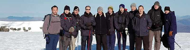 Successful Challenge Team on summit of Ben Nevis