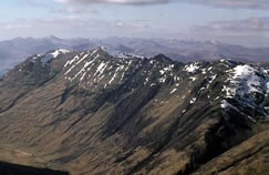 The Aonach Eagach Ridge - one of the most precipitous ridges on the UK mainland
