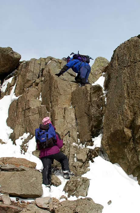 Winter snow on the 3 Peaks Challenge in May 2008