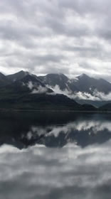 Five Sisters reflected in Loch Duich