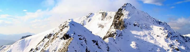 The Forcan Ridge in winter