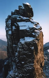 Winter snow on The Inaccessible Pinnacle