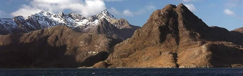Sgurr na Stri and Cuillin Ridge from Loch Scavaig