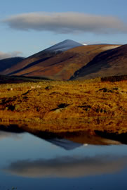 Skiddaw reflections in Tewet Tarn