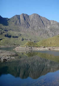 View over the lake on Snowdon