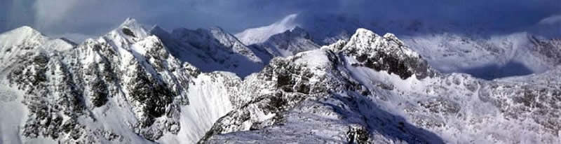 Cuillin Ridge in winter