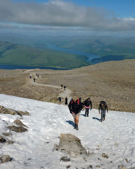 Nearing the Ben Nevis summit plateau