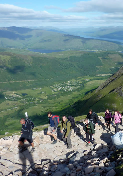 Ascending Ben Nevis via the popular Tourist Route
