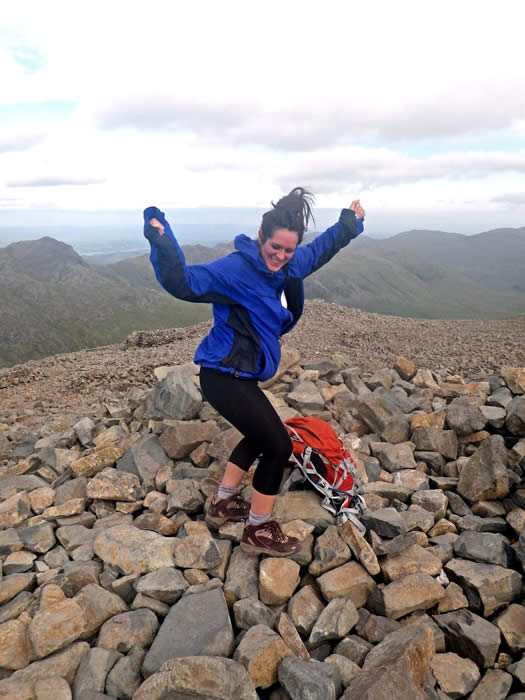 Celebration atop England's highest peak