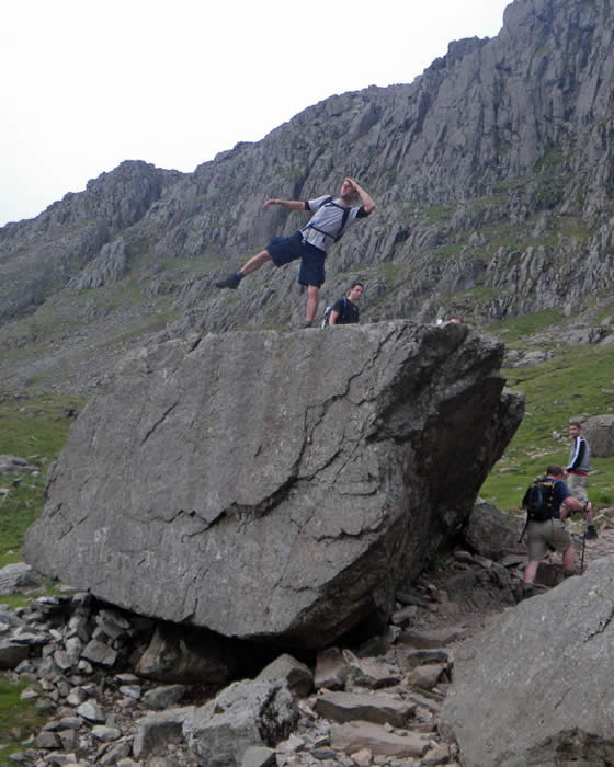 Ascending Scafell Pike via Mickledore Col